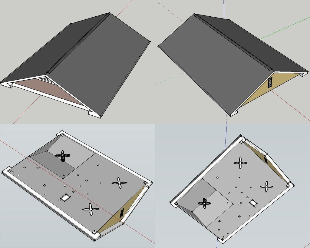 Rendered_Roof_display_large_display_large.jpg Download free STL file Two-Story Spec House • Object to 3D print, Jeyill3