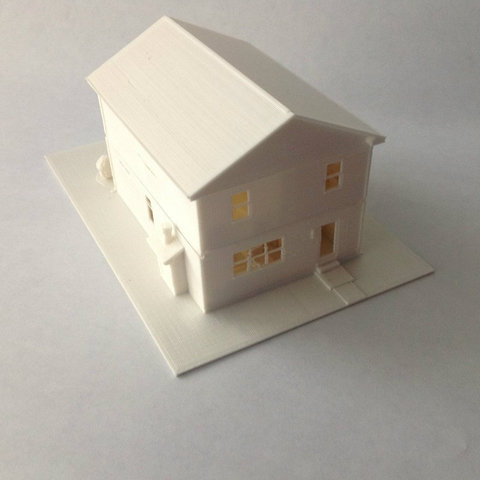 FullRear_display_large_display_large.jpg Download free STL file Two-Story Spec House • Object to 3D print, Jeyill3
