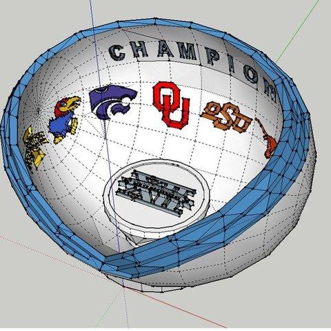 Big12_Trophy_Bowl_display_large.jpg Télécharger fichier STL gratuit Trophée Big 12 • Modèle à imprimer en 3D, Jeyill3