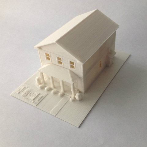 FullFront_display_large_display_large.jpg Download free STL file Two-Story Spec House • Object to 3D print, Jeyill3