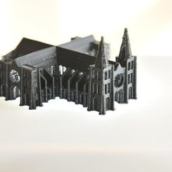 Free 3D printer model Mini Cathedral - With Openings!, Jeyill3