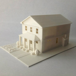Free 3D printer designs Two-Story Spec House, Jeyill3