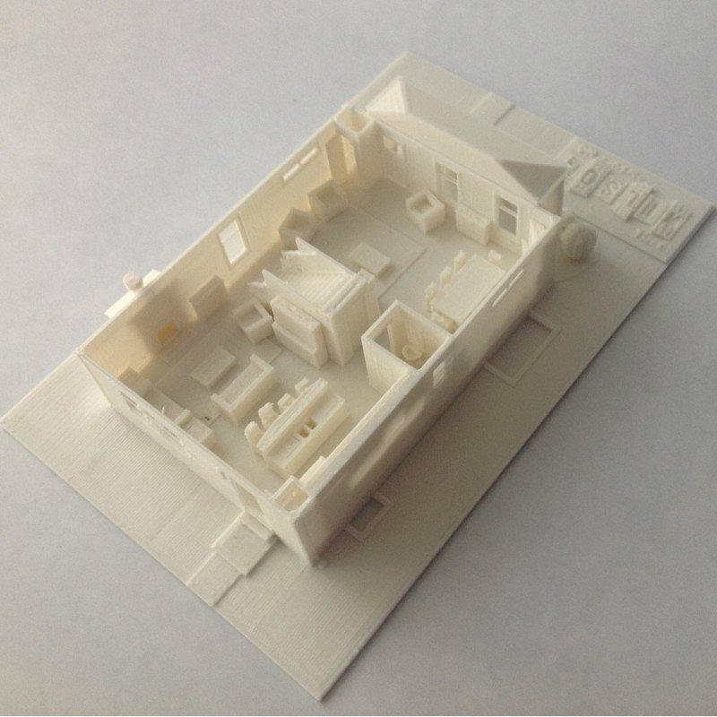 1stFloorRear_display_large_display_large.jpg Download free STL file Two-Story Spec House • Object to 3D print, Jeyill3