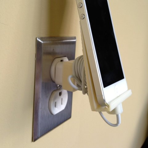 IMG_0118_display_large.jpg Download free STL file iPhone 5 Wall Outlet Dock • Template to 3D print, Steedrick