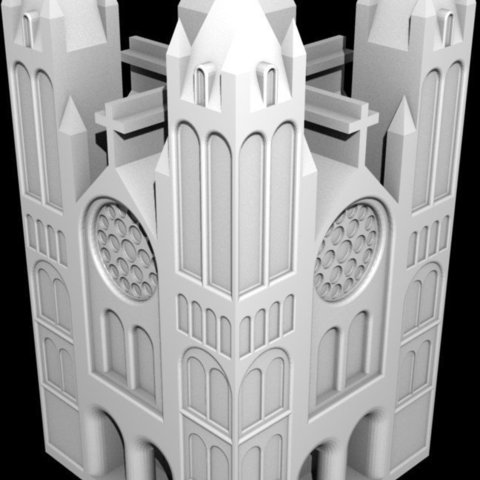 Download free 3D printing files Cathedral Game Piece, Steedrick