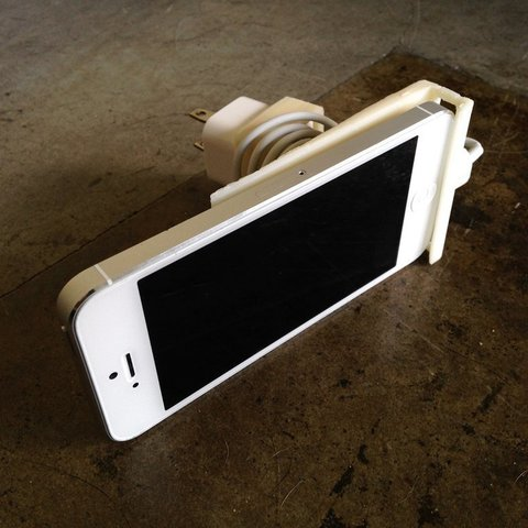 IMG_0121_display_large.jpg Download free STL file iPhone 5 Wall Outlet Dock • Template to 3D print, Steedrick