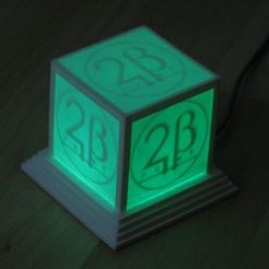 Free 3D printer designs Glowing Logo Cube, Steedrick
