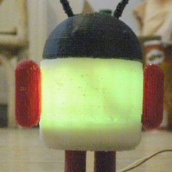 Download free STL file Glowing Lovable Google Android!, Steedrick