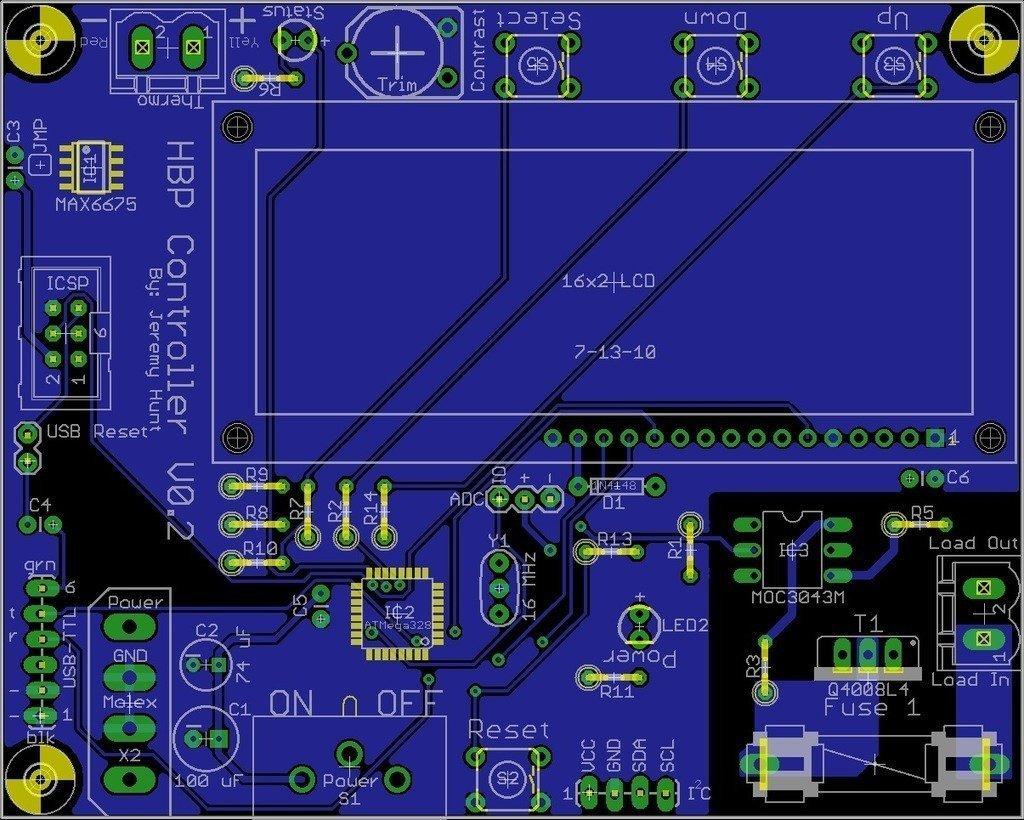 Heated_Build_Platform_Bottom_display_large_display_large.jpg Download free STL file Heated Build Platform Controller V0.2 • 3D printable object, Steedrick