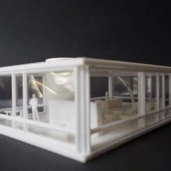 Download free 3D printing templates GLASS HOUSE - PHILLIP JOHNSON, Steedrick