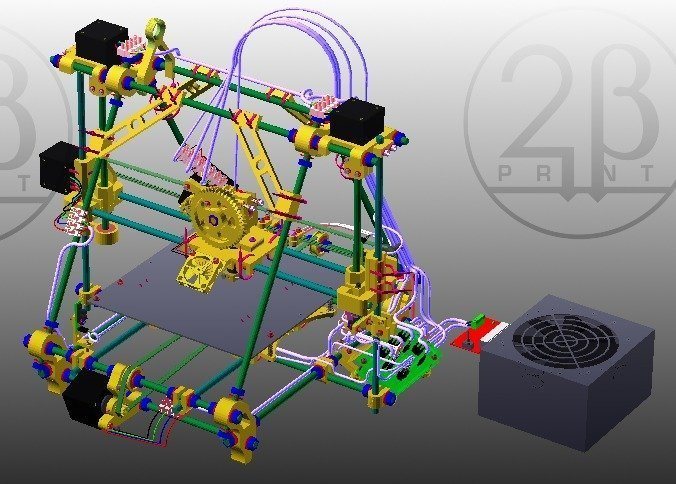 BetaPrusaDeluxe-web_display_large.jpg Download free STL file BetaPrusa 3D printer kits • 3D printable template, Steedrick