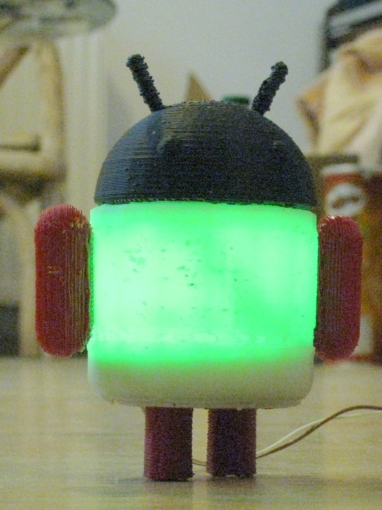 IMG_0710_display_large_display_large.jpg Download free STL file Glowing Lovable Google Android! • 3D print object, Steedrick