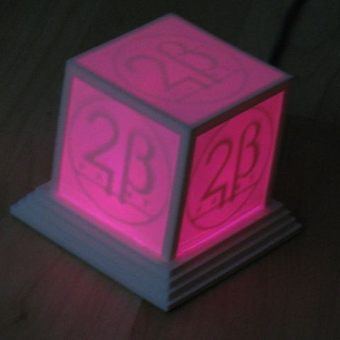 logo_cube_lila_display_large_display_large.jpg Download free STL file Glowing Logo Cube • 3D print object, Steedrick