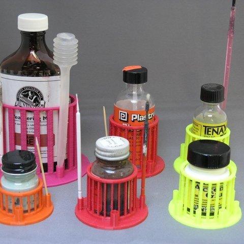 Télécharger objet 3D gratuit Support de bouteille/support de brosse paramétrique, Steedrick