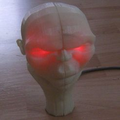 Free 3D printer model Glowing Alien head, Steedrick