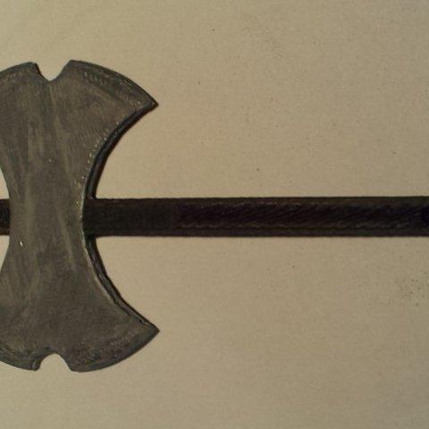 Download free 3D printer model Viking Battle Axe, Steedrick