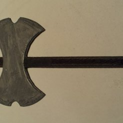 Free 3D printer model Viking Battle Axe, Steedrick