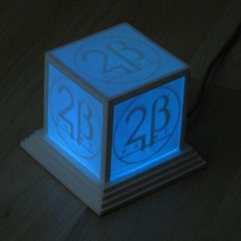 logo_cube_blue_display_large_display_large.jpg Download free STL file Glowing Logo Cube • 3D print object, Steedrick