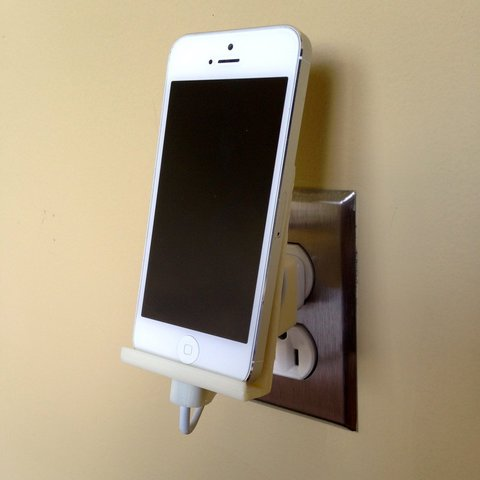 Download free 3D printer model iPhone 5 Wall Outlet Dock, Steedrick