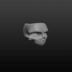 Skull Ring pic 1.png Download OBJ file Half Jaw Ring • 3D printable template, Crimsonbeard