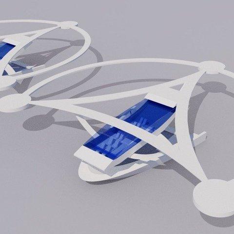 modern_inventor_0718_display_large.jpg Download free STL file Stingray Amphibious Tri-Copter Drone Model • 3D printable design, AlbertKhan3D