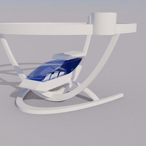 Télécharger STL gratuit Elegant Passenger Drone - Avion à décollage et atterrissage verticaux, AlbertKhan3D