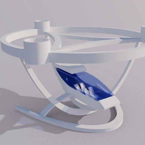 modern_inventor_0657_display_large.jpg Télécharger fichier STL gratuit Elegant Passenger Drone - Avion à décollage et atterrissage verticaux • Design imprimable en 3D, AlbertKhan3D
