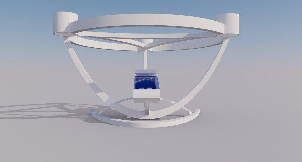 modern_inventor_0655_display_large.jpg Télécharger fichier STL gratuit Elegant Passenger Drone - Avion à décollage et atterrissage verticaux • Design imprimable en 3D, AlbertKhan3D