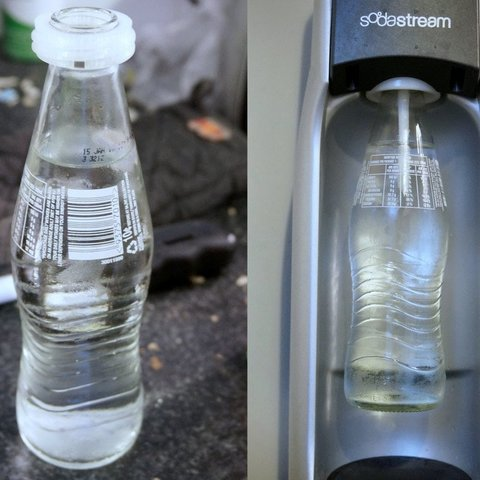 19f7e91ea7be1f52fead48c05a9d124e_display_large.jpg Download free STL file SodaStream Glass Soda Bottle Adapter • Object to 3D print, AlbertKhan3D