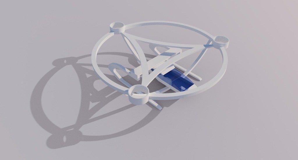 SWFL3D_0625_display_large.jpg Download free STL file Sacred Geometry Drone VTOL Frame • 3D printer design, AlbertKhan3D