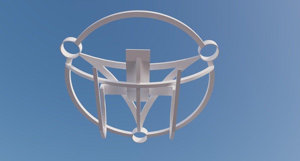 SWFL3D_0630_display_large.jpg Download free STL file Sacred Geometry Drone VTOL Frame • 3D printer design, AlbertKhan3D