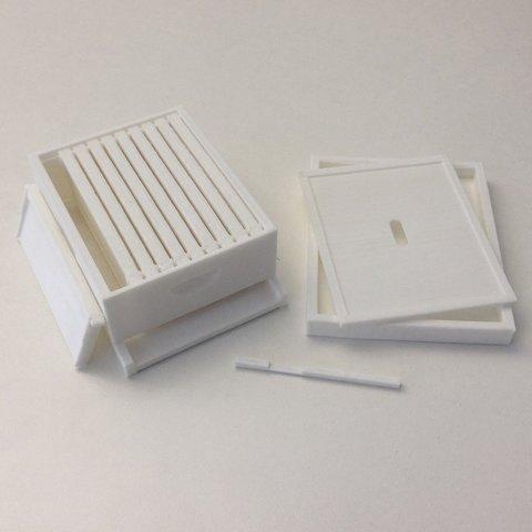 Télécharger fichier 3D gratuit Modèle de ruche Langstroth, AlbertKhan3D