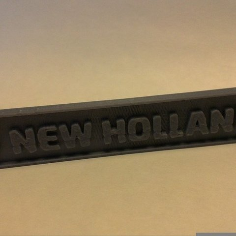Download free 3D model New Holland Logo for your tractor, AlbertKhan3D