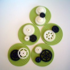 Download free 3D printer designs OpenSCAD Spur Gears, AlbertKhan3D