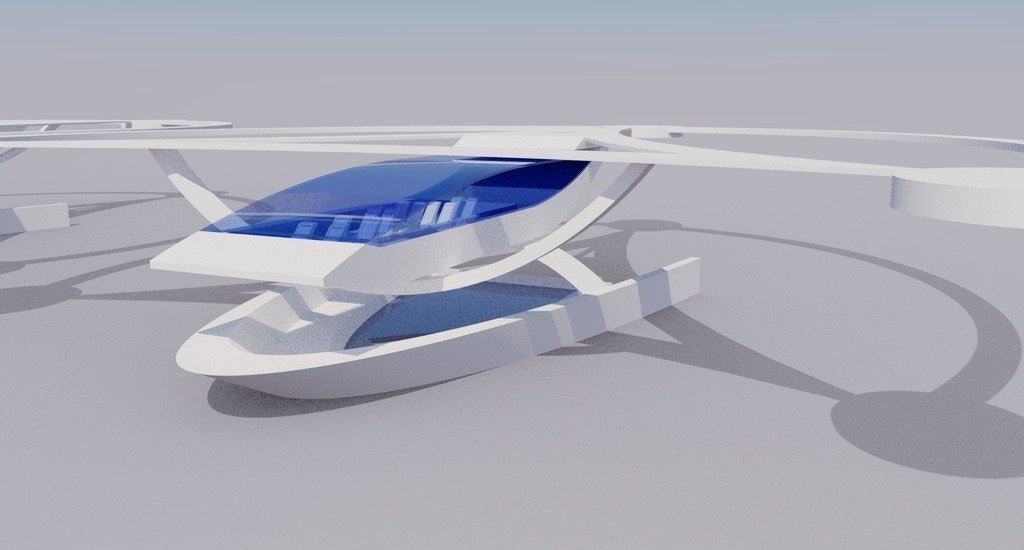 modern_inventor_0722_display_large.jpg Download free STL file Stingray Amphibious Tri-Copter Drone Model • 3D printable design, AlbertKhan3D