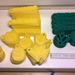 Free 3D print files Tractor logos as keychain - John Deere, Massey Fergusson, Eicher, Fendt, Claas, New Holland, Hanomag, Deutz, AlbertKhan3D