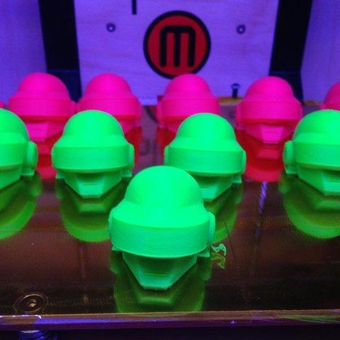 armyOfRobots_display_large.jpg Télécharger fichier STL gratuit Le casque Daft Punk de Thomas Bangalter • Design pour imprimante 3D, AlbertKhan3D