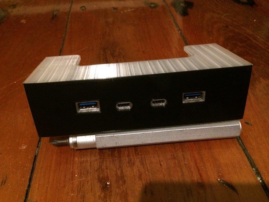 """1d7aeec3420c29aac84a5b301ed75a62_display_large.JPG Télécharger fichier STL gratuit PC USB-C 5,25"""" Drive Bay Bay Face avant du PC • Objet imprimable en 3D, AlbertKhan3D"""