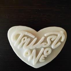 Download 3D printing designs Trust no one keychain, praneeth0327