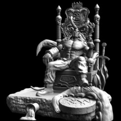71348722_10220454105612635_5386065293296533504_o.jpg Télécharger fichier STL HellBoy sur le trône à partir de mon modèle d'impression 3D discordant • Design pour impression 3D, DB3DCollectible