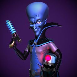 megamind-fan-art-3d-printable-3d-model-stl.jpg Download STL file Megamind fan art 3d printable 3D print model • Object to 3D print, DB3DCollectible