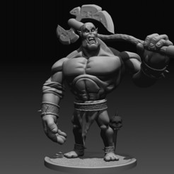 Download 3D printing files Fantasy Orc miniature, DB3DCollectible