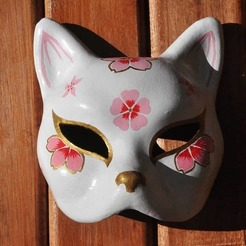 Download 3D printing designs kitsune mask, soulevansdxd