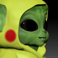 Descargar modelos 3D para imprimir Baby yoda pikachu, soulevansdxd
