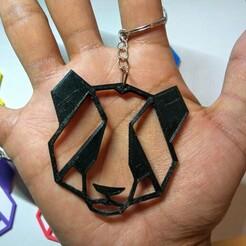 panda1.jpg Télécharger fichier STL Porte-clés Panda Porte-clés géométrique animal • Design pour imprimante 3D, iv8erazo