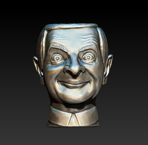 2020-12-28_00-30-25.jpg Download STL file mr. Bean (pots) • 3D printing model, Crazy_Craft_Sochi