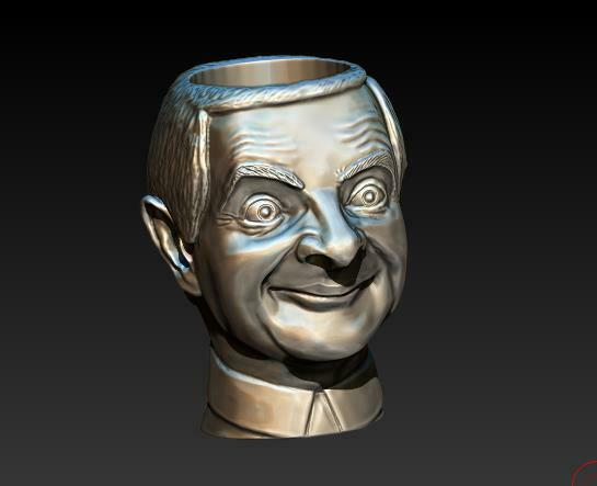 2020-12-28_00-29-49.jpg Download STL file mr. Bean (pots) • 3D printing model, Crazy_Craft_Sochi