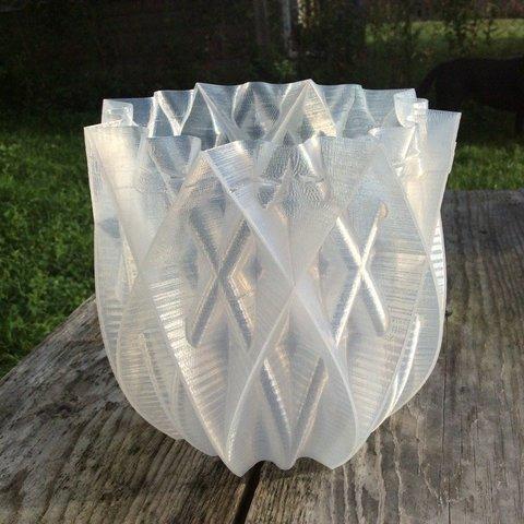 Free 3D print files Vase - 16 pointed, idig3d