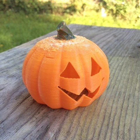 Download free 3D printer designs Baby Jack -- O'Lantern - fits $1 store LED tealight, idig3d