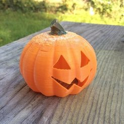 Free 3D printer designs Baby Jack -- O'Lantern - fits $1 store LED tealight, idig3d